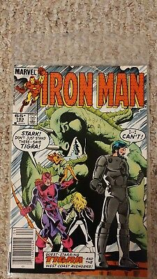 Iron Man #193. NM. 9.4 or better. West Coast Avengers Appearence.