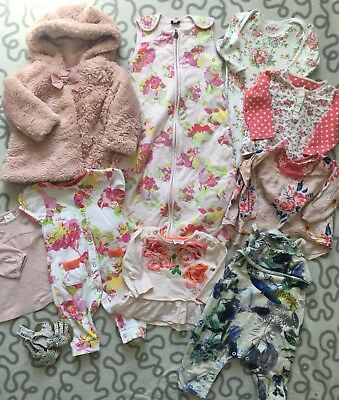Baby Girls floral rose Clothes Bundle Ted Baker Cath Next 3-6 Months 1x bnwt