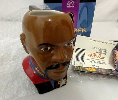 STAR TREK / CAPTAIN SISKO Collectibles Ceramic Figural Mug NEW w/ Box