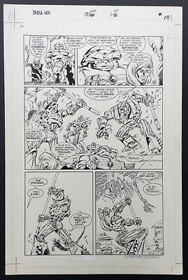 Kevin O'Neill OMEGA MEN original comic art artwork DC 2000AD