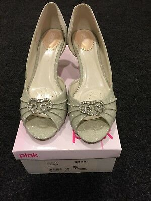 Amelia platinum glitter size 8 (41) pink by paradox wedding shoes