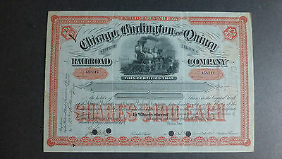Chicago Burlington and Quincy Railroad Company, Illinois 1901 mit Taxmarken
