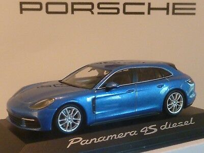 Herpa Wap0207230g Panamera Diesel 4s 1:43 Dark Blue New Original Packaging For Fast Shipping Automotive