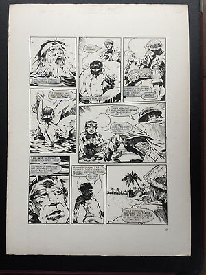 DOCTOR WHO original comic art artwork Mick Austin Lunar Lagoon fifth 1983 Dr