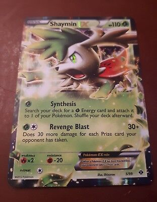 Pokemon Shaymin Ex Ultra Rare Card Mint Condition 77108 Roaring