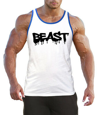 Men/'s Dripping Beast Camo Tank Top Fitness Muscle Workout Bodybuilding Gym V169