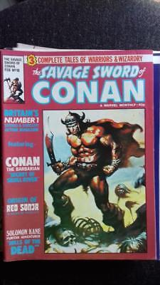 Savage Sword of Conan No 16 (February 1979) - Marvel UK edition - Very Good cond