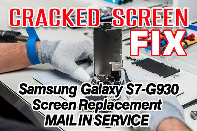 Samsung Galaxy S7 G930 Cracked Screen Glass Repair Replacement Mail In Service