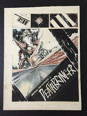 Nemesis Warlock Deathbringer John Hicklenton 2000AD original comic art artwork