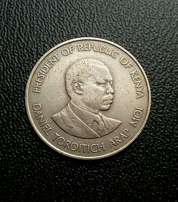 Kenya 1980 1 one shilling coin. World coin collectable