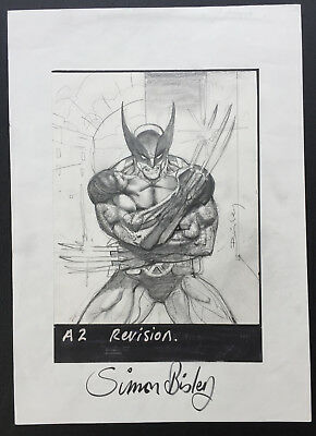Simon Bisley Wolverine drawing original comic art artwork Marvel war of heroes
