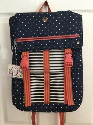 A+ Backpack ~ Matilda Jane ~ New With Tags ~ No Bag ~ Polka-Dot & Striped