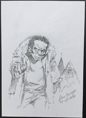 Jesus Redondo Monster Scream sketch Original Art artwork 2000ad Alan Moore