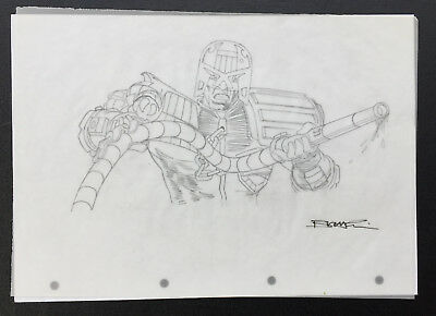 Brett Ewins Judge Dredd original art artwork 2000ad
