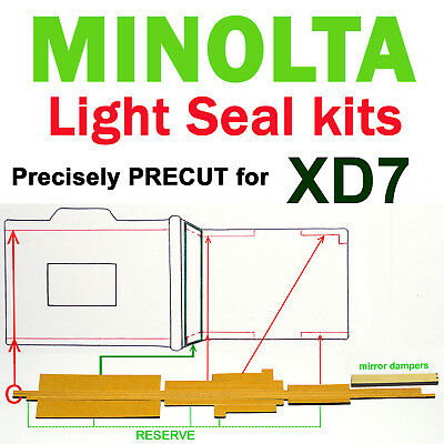 MINOLTA Light seal kit +mirror dampers PRECISELY PRECUT to fit  !! XD7 only !!