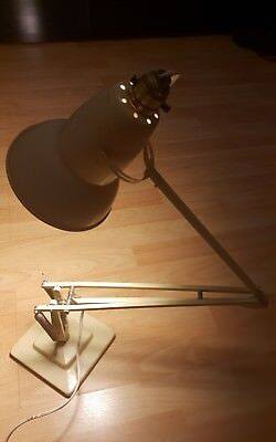 Vintage Art Deco Herbert Terry 2 Step Anglepoise Desk Lamp Cream Good Condition