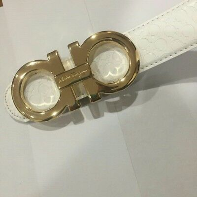 White and Black Reversible Ferragamo Belt
