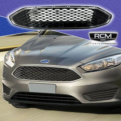 17 18 Ford Fusion Front Grill Honeycomb Gloss Black Grille