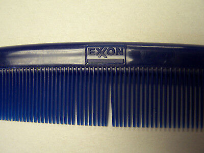 """VINTAGE EXXON MOBIL GAS 5"""" COMB GIVE AWAY ITEM 1960's BLUE NEW NEVER USED TIGER"""