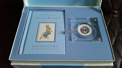 2017 Peter Rabbit Book And Silver Proof Coin Gift Set
