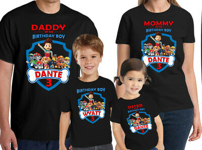 Paw Patrol Shirt Personalized Kids Birthday Custom Name And Age