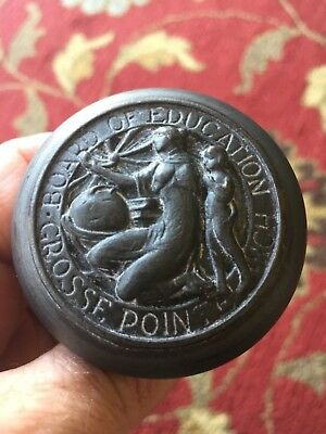 OLD GROSSE POINTE SCHOOLS MICHIGAN Board of Education door knob Hardware Handle