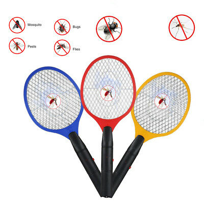 Bug Zapper Racket Electronic Mosquito Fly Swatter Insects Handheld Electric Bat