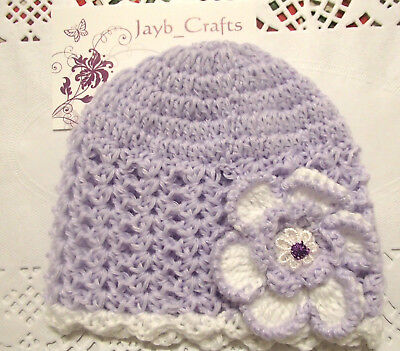 Handmade Crochet Baby Hat in Bella Baby Wonder 4 ply yarn FH301