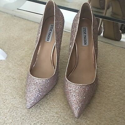 d78cb3232d8 STEVE MADDEN DAISIE Rose Gold Metallic Pointed Toe Dress Pumps Heels ...