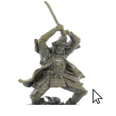 Hand Painted Fine Vintage Japanese Bronze Figure Samurai Warrior Hot Cast HQ