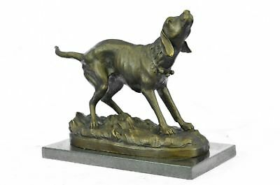 Hand Painted Bronze,hunter, hunting hound, bronze, hunt, dog, sculpture HQ