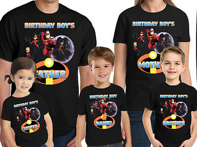 The Incredibles T-Shirt Custom Kids Birthday Name and Age