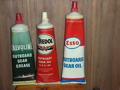Veedol , Valvoline , Esso , outboard gear oil , grease tubes                 37