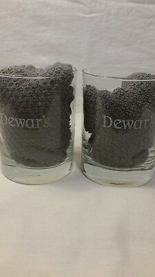 Dewar's Scotch Whiskey Liquor Rock Glass Lot Of 2