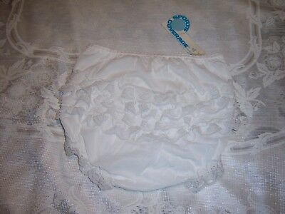 Vtg Tennis Ruffled Lace Panties by Sports Coverage Fully Lined Girls Size M