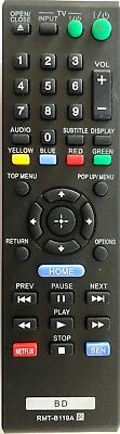 New RMT-B119A Remote Control for Sony Blu-Ray DVD Player BDP-BX110 BDP-S1100 BD
