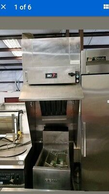 Ventless Hood (BK1-Fh 22 ) with built in extinguishing  System (Free standing)
