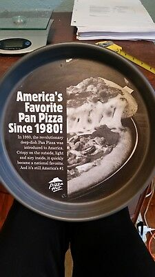 """Pizza Hut Medium 12"""" Pan with Pizza Hut history Printed on the Inside of Pan"""
