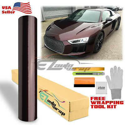 *Premium Rose Black Gloss Metallic Glossy Sticker Decal Vinyl Wrap Air Release
