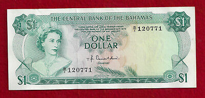 1974 Central Bank Of The Bahamas $1 Note, P-35a