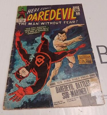 VG+/Fine or better condition DAREDEVIL #7 FIRST ISSUE WITH RED COSTUME