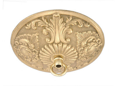 VICTORIAN LACE LOOK { CAST BRASS } CEILING LIGHT PENDANT CANOPY KIT ~ by PLD