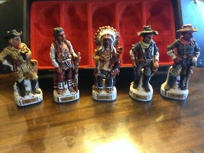 Collectible Decanter, Lewis & Clark #157; Five Mini Decanters with U.S. Mail Box