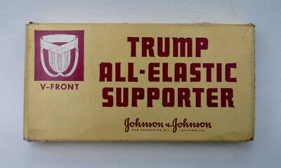 TRUMP Jock Strap Box - Vintage V Front, SMALL athletic supporter TRUMP SUPPORTER