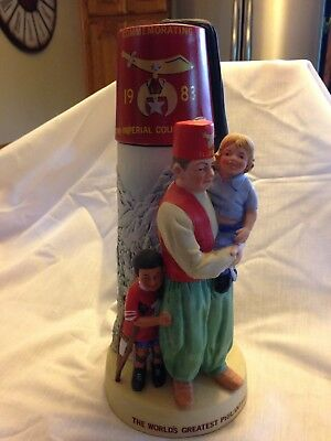 Collectible Decanter, Lionstone, Limited Edition #1364 Shriner Commemoration