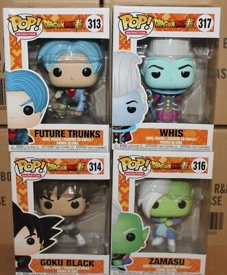 Funko POP Dragon Ball Whis Zamasu Goku Black & Trunks!!! BLOWOUT SALE!!!