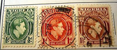 Nigeria 1/2d-1d-1 1/2d Stamp Lot