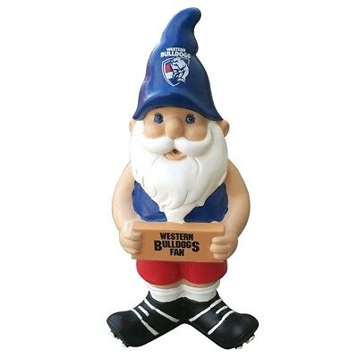 Western Bulldogs Official AFL Garden Gnome with Sign