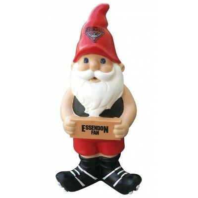 Essendon Bombers Official AFL Garden Gnome with Sign