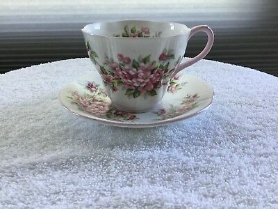 "Royal Albert Blossom Time Series ""Apple Blossom"" Tea Cup and Saucer"